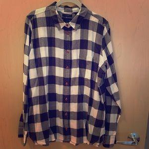 J Crew Flannel Boy Shirt in Black & White Check